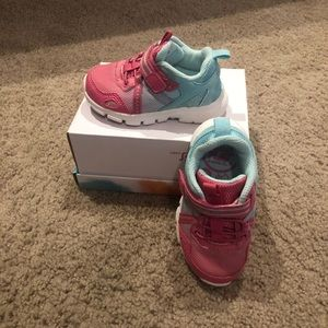 Pink and Light Blue Little Girls Sneakers